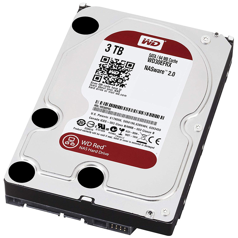 WD Red Desktop WD30EFRX Disque dur interne 3.5 SATA III IntelliPower Mémoire cache 64Mo 3 To