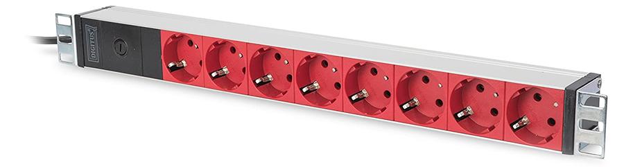 ASSMANN Electronic DN-95410-R unité de Distribution d'énergie 1U Noir 8 Sortie(s) CA - Unités de Distribution d'énergie