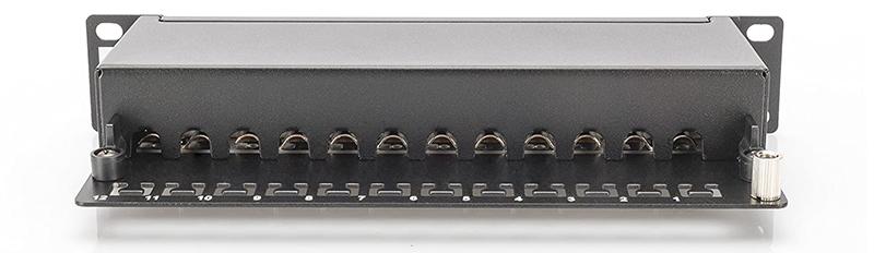DIGITUS LSA Patch-Panel Cat-6 - 12 ports - rack 10 pouces - 1 U