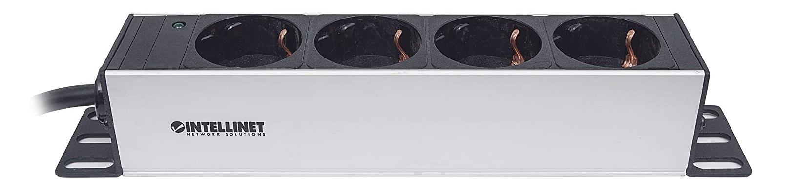 Intellinet Barre multiprise 25,4 cm - 4 Prises - sans Protection Contre Les surtensions