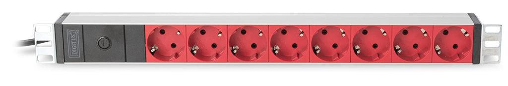 Test ASSMANN Electronic DN-95410-R unité de Distribution d'énergie 1U Noir 8 Sortie(s) CA