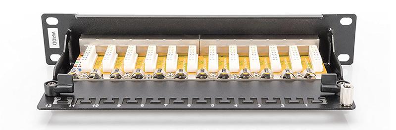 Test DIGITUS LSA Patch-Panel Cat-6 - 12 ports - rack 10 pouces - 1 U