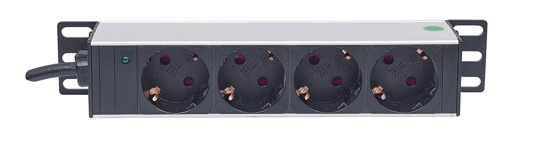 Test Intellinet Barre multiprise 25,4 cm - 4 Prises - sans Protection Contre Les surtensions