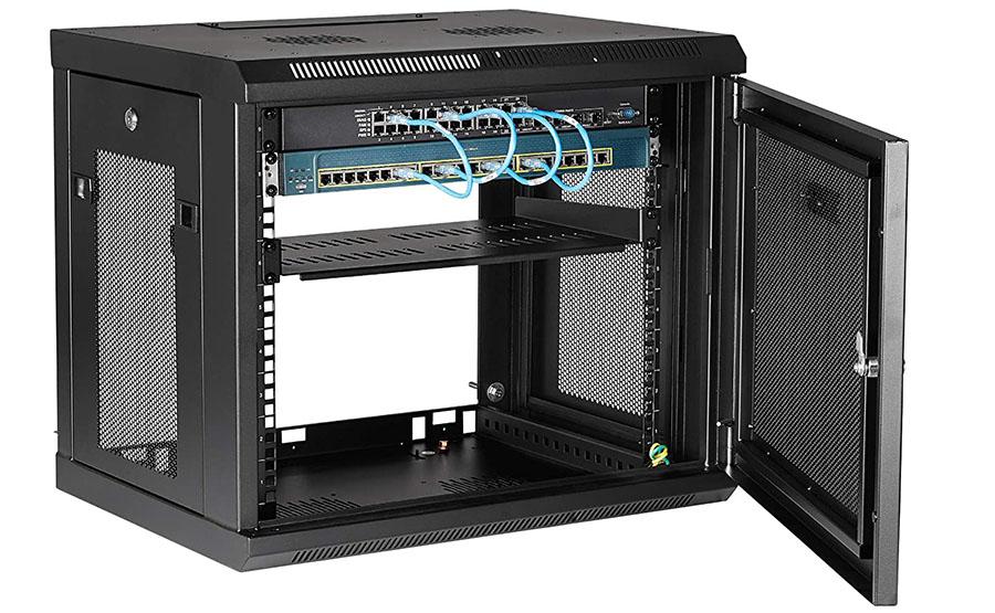 Test StarTech.com Rack serveur 9U à montage mural - Boîtier armoire serveur