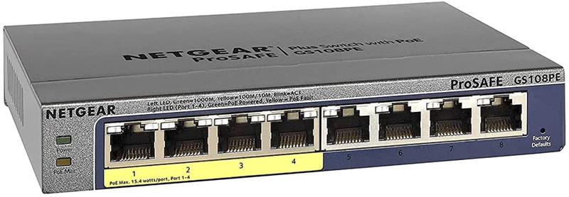 test - NETGEAR Switch PoE GS108PE Smart Manageable plus