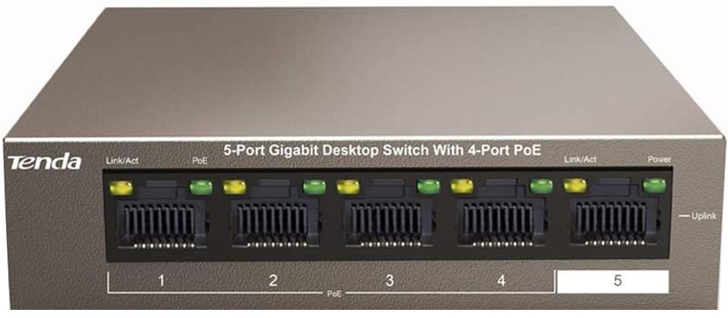 test - Tenda TEG1105P-4-63W Switch PoE 5 Ports