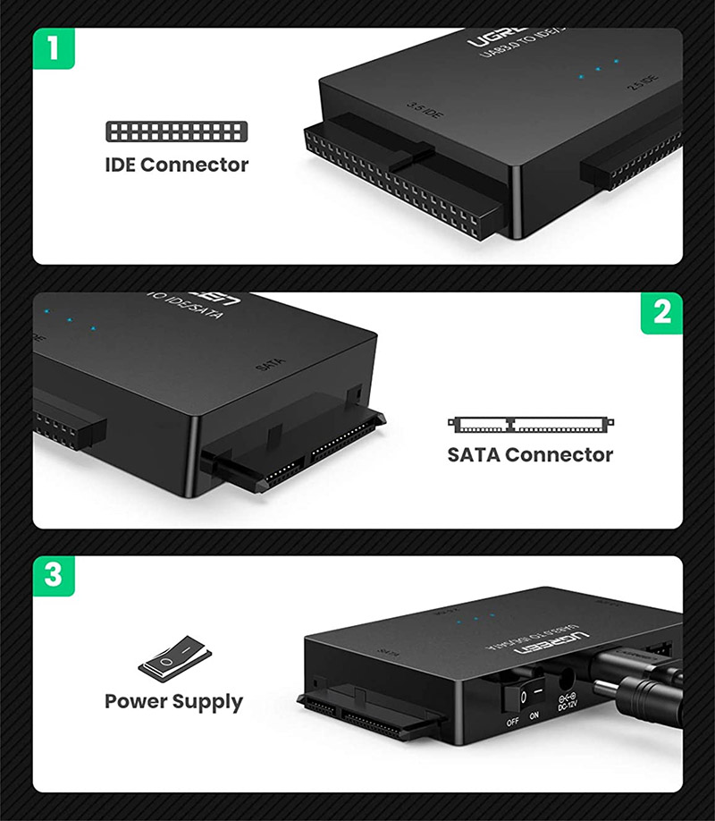 avis sur l'Adaptateur Disque Dur USB 3.0 IDE SATA UGREEN