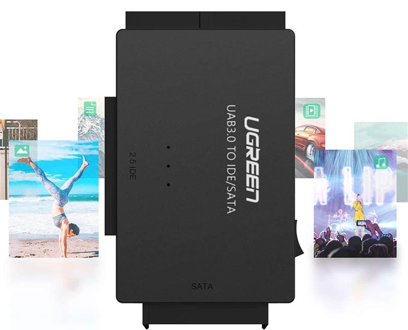 test complet de l'Adaptateur Disque Dur USB 3.0 IDE SATA UGREEN
