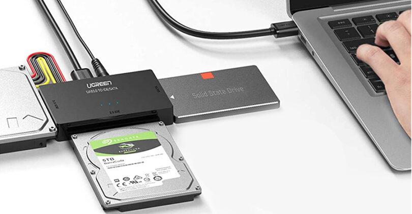 test de l'Adaptateur Disque Dur USB 3.0 IDE SATA UGREEN