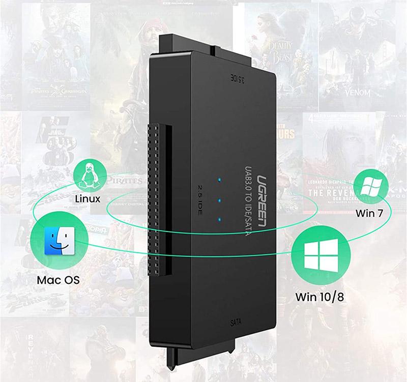test et avis UGREEN Adaptateur Disque Dur USB 3.0 IDE SATA